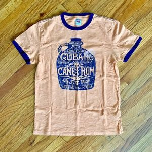 Lucky Brand Cuban Cane Rum Distressed Graphic Tee